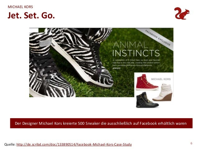 MICHAEL KORS  Jet. Set. Go.      Der Designer Michael Kors kreierte 500 Sneaker die ausschließlich auf Facebook erhältlich...