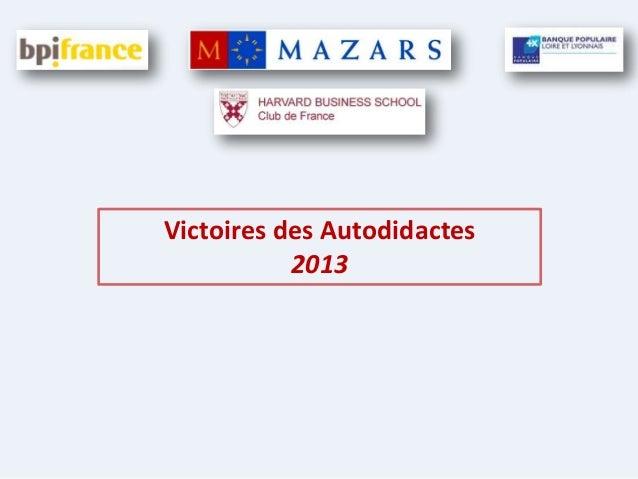 Victoires des Autodidactes 2013