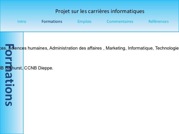 Titre du programme  : Gestion de sites Web  Pré-requis  : Langue principale, Mathématiques, Sciences, Sciences humaines, A...