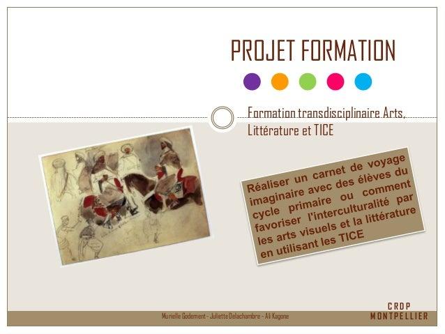 C R D P M O N T P E L L I E RMurielle Godement - Juliette Delachambre - Ali Kagone PROJET FORMATION Formation transdiscipl...