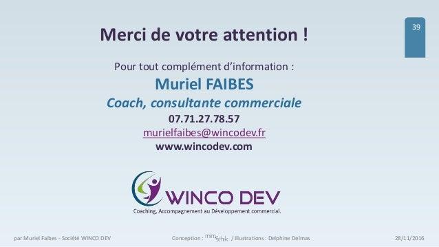 28/11/2016par Muriel Faibes - Société WINCO DEV 39 Merci de votre attention ! Pour tout complément d'information : Muriel ...