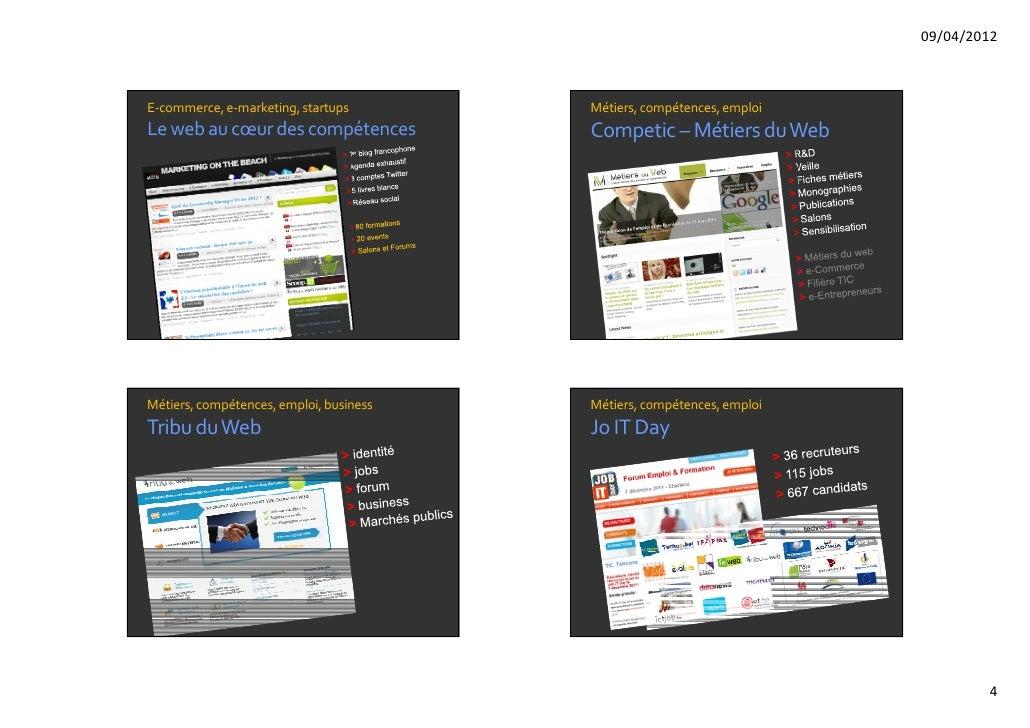 09/04/2012E‐commerce,e‐marketing,startups        Métiers,compétences,emploiLewebau cœurdescompétences           Co...