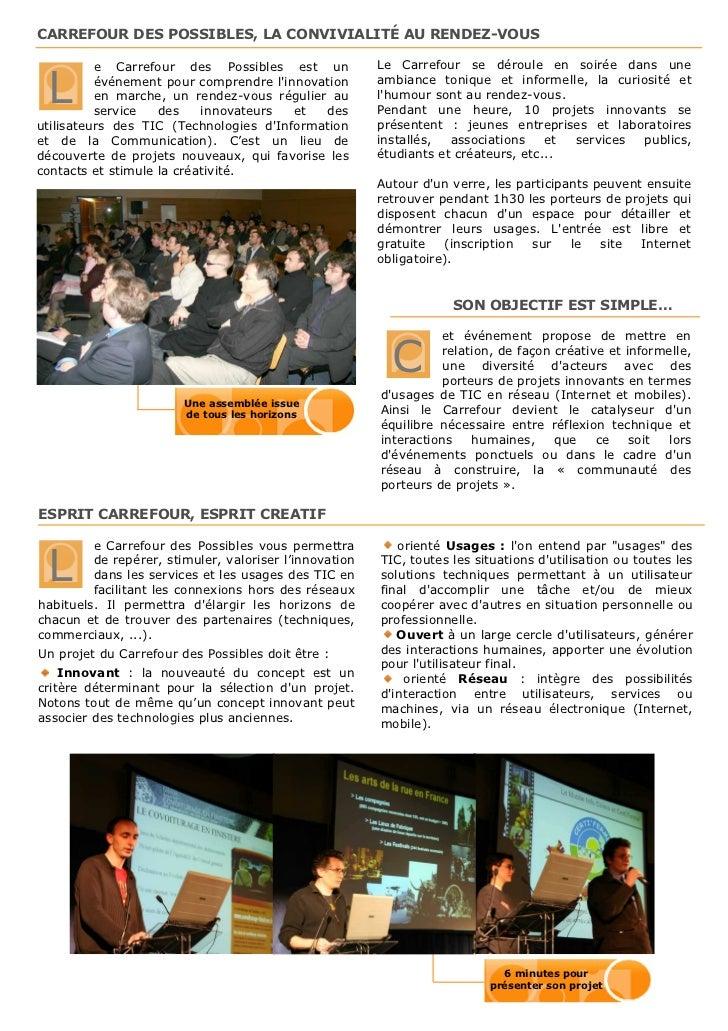 Présentation Carrefour des Possibles Slide 2