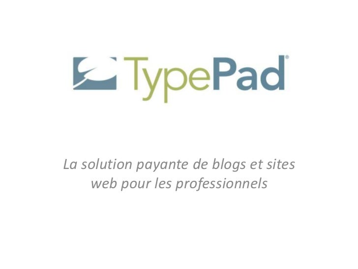 La solution payante de blogs et sites    web pour les professionnels