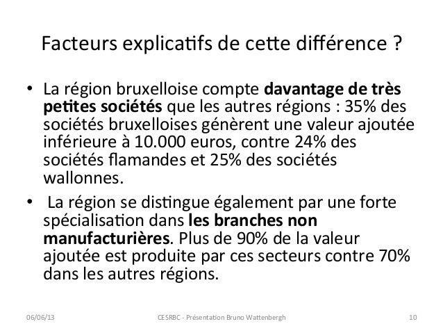 Facteurs explicaCfs de ce=e différence ?  • La région bruxelloise compte davantage de très peA...