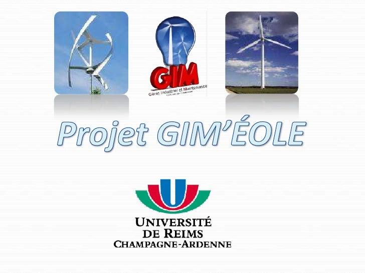 Projet GIM'ÉOLE<br />