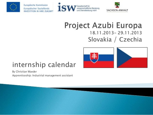 internship calendar By Christian Waeder Apprenticeship: Industrial management assistant