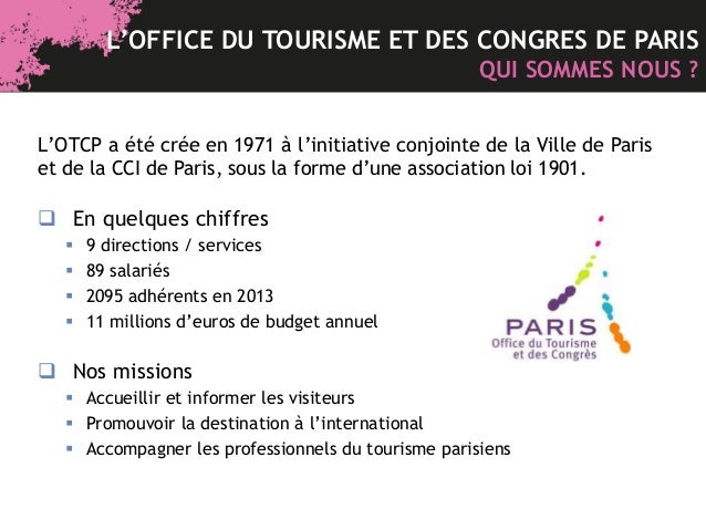 Bo te outils l 39 office du tourisme et des congr s de - Office du tourisme et des congres de paris ...