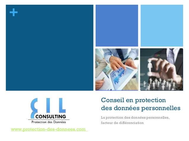 +                                 Conseil en protection                                 des données personnelles          ...
