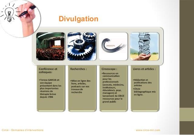 DivulgationCircé - Domaines d'interventions                 www.circe-mri.com
