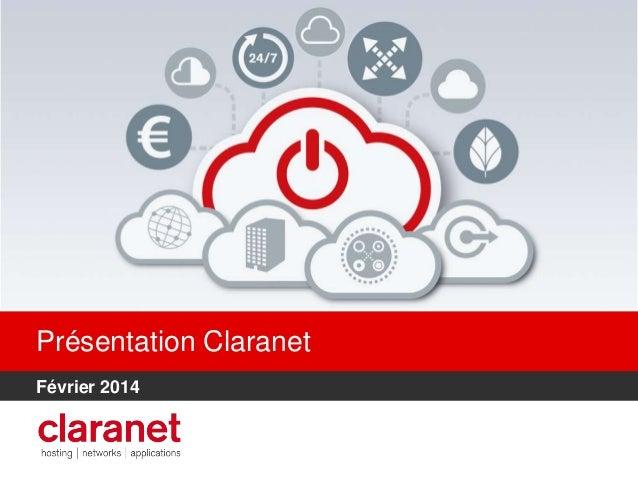 Présentation Claranet Février 2014