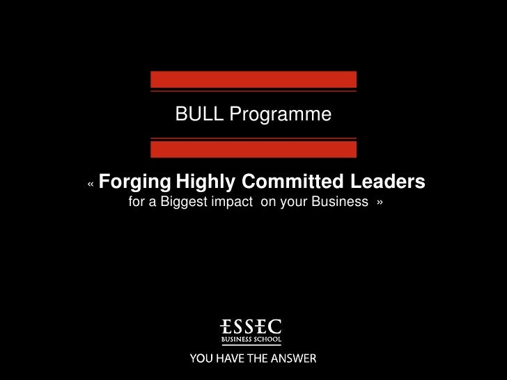 BULL Programme<br />« ForgingHighlyCommittedLeaders <br />for a Biggest impact  on your Business  »<br />