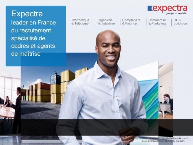 Expectra leader en France du recrutement spécialisé de cadres et agents de maîtrise Informatique & Télécoms Ingénierie & I...