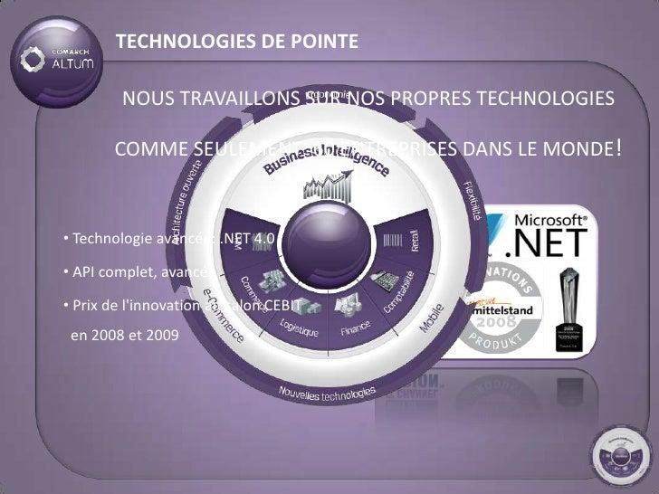 TECHNOLOGIES DE POINTE           NOUS TRAVAILLONS SUR NOS PROPRES TECHNOLOGIES         COMME SEULEMENT 60 ENTREPRISES DANS...