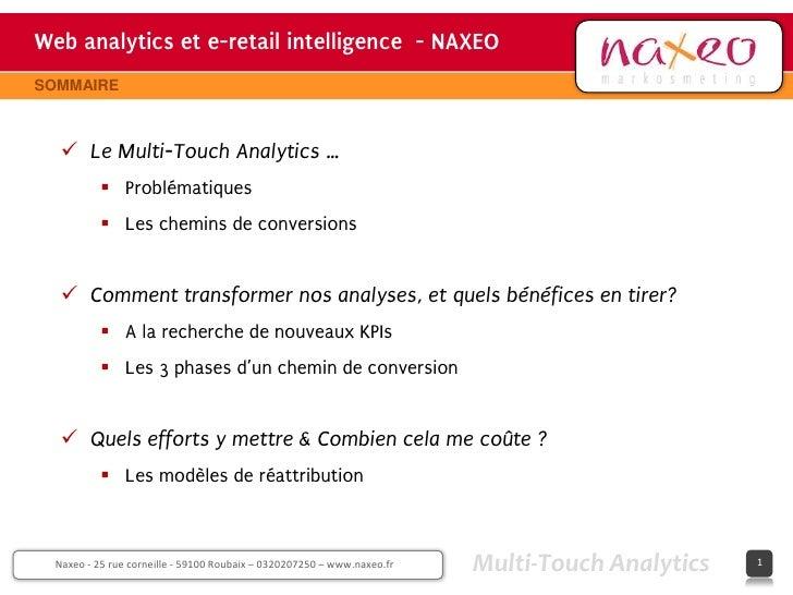 Web analytics et e-retail intelligence - NAXEO                                     hh                                     ...