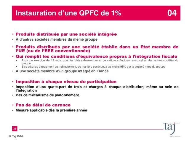 Actualite Fiscale Et Lois De Finances 2016 La Fin De La Fiscalite