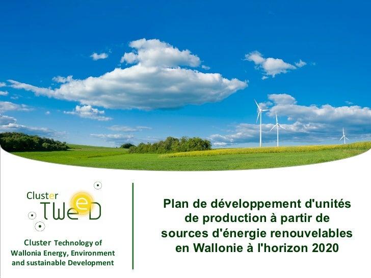 Plan de développement dunités                                            de production à partir de                        ...