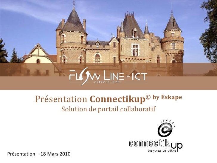 Présentation Connectikup© by Eskape                        Solution de portail collaboratif     Présentation – 18 Mars 2010