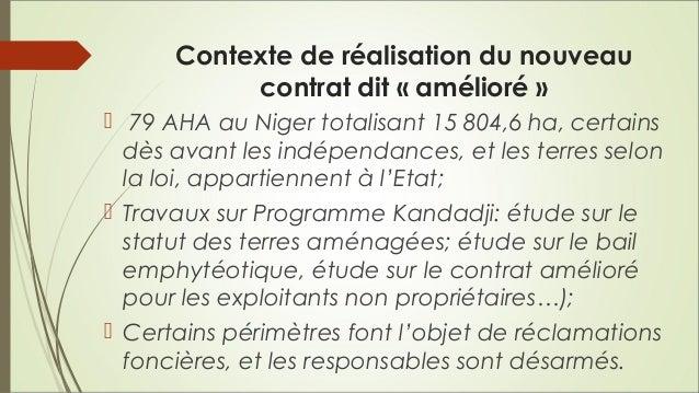 Contrat d'exploitation à l'attention des exploitants sur les périmètres irrigués au Niger Slide 2
