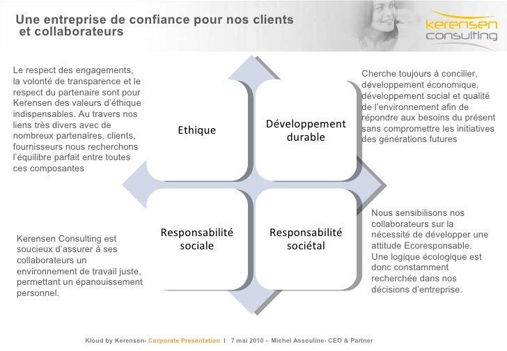 Une entreprise de confiance pour nos clients  et collaborateurs Cherche toujours à concilier, développement économique, dé...