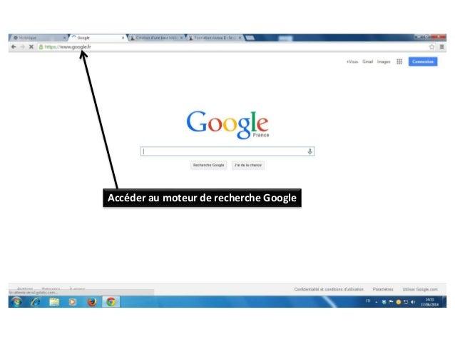 Accéder au moteur de recherche Google