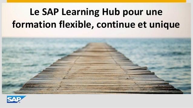 Le SAP Learning Hub pour une formation flexible, continue et unique