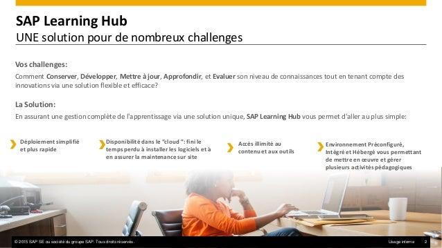 SAP Learning Hub : Se former sur le Cloud Slide 2