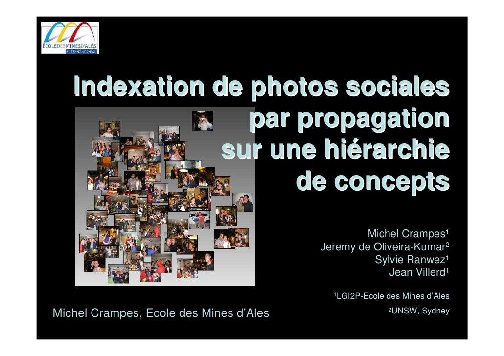 Indexation de photos sociales                  par propagation                sur une hiérarchie                      de c...