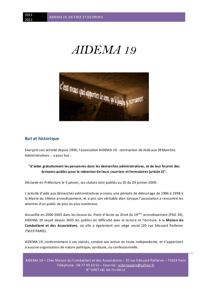 Présentation d'aidema 19