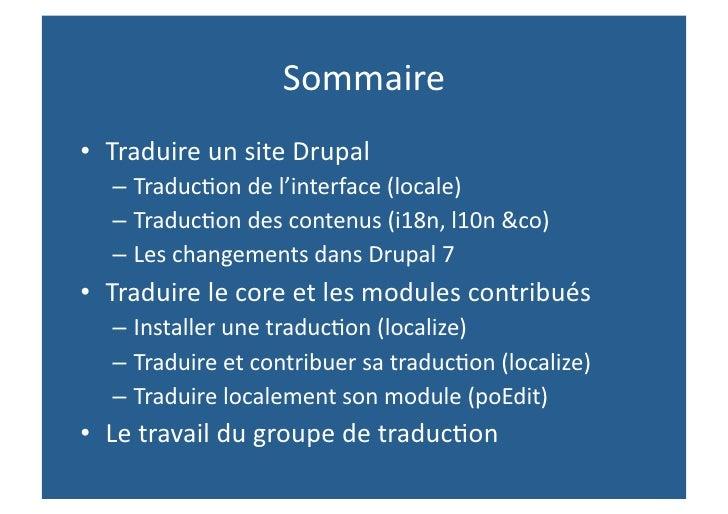 Drupalcamp Nantes - Lost in translation Slide 3