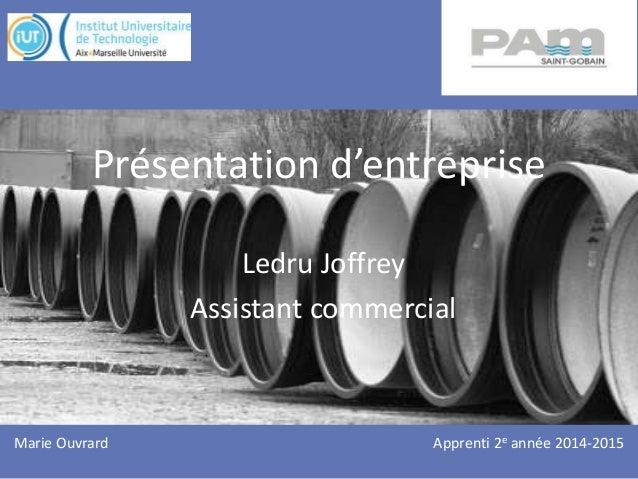 Présentation d'entreprise Ledru Joffrey Assistant commercial Apprenti 2e année 2014-2015Marie Ouvrard