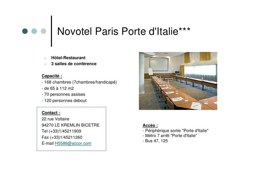 Pr sentation des adh rents cap affaires 94 - Novotel paris porte d italie ...