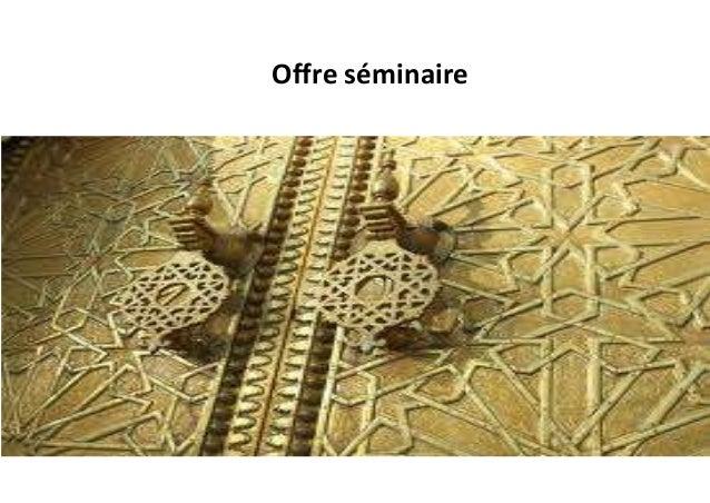 Offre séminaire