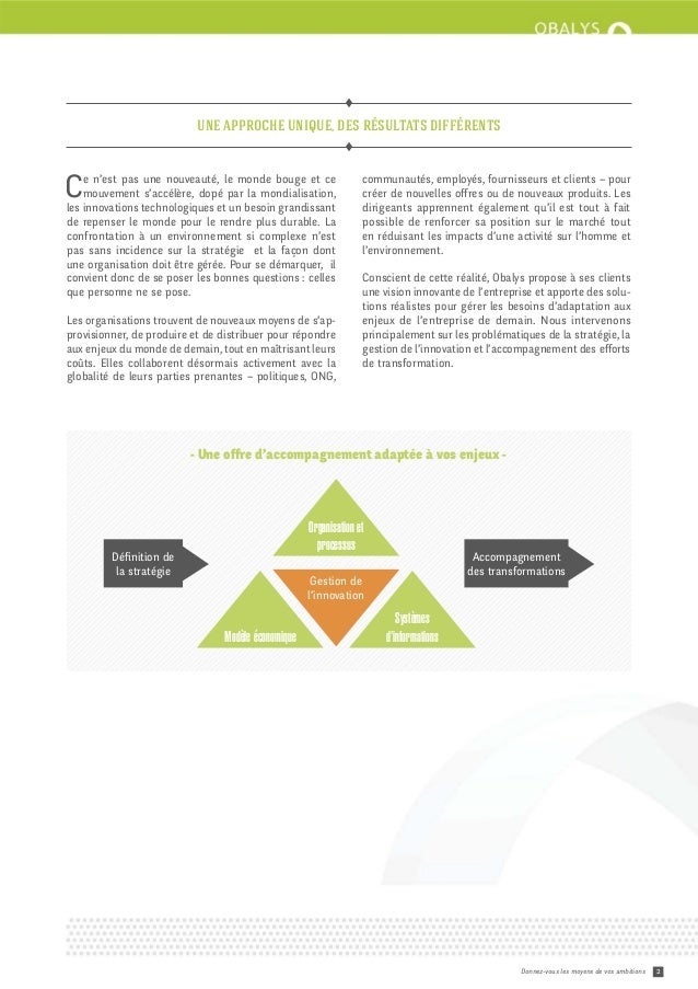 Brochure de présentation des services Obalys Slide 2