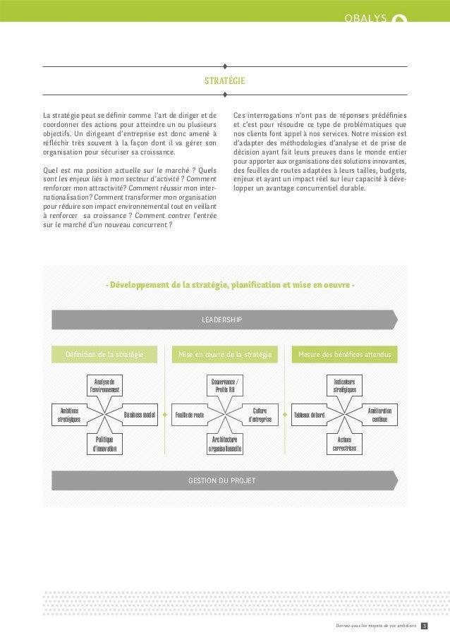 Brochure de présentation des services Obalys Slide 3