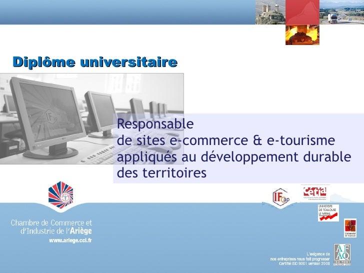 Présentation du Diplome Universitaire e-marketing et e-commerce