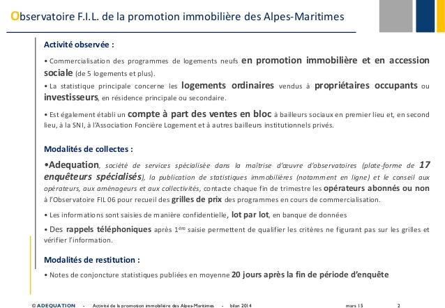 Présentation du 17/03/2015 - Alpes-Maritimes - Bilan 2014 et perspectives Slide 2