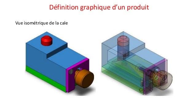 Définition graphique d'un produit Vue isométrique de la cale