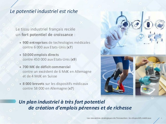 Le potentiel industriel est riche 4Les rencontres stratégiques de l'innovation : les dispositifs médicaux Le tissu industr...