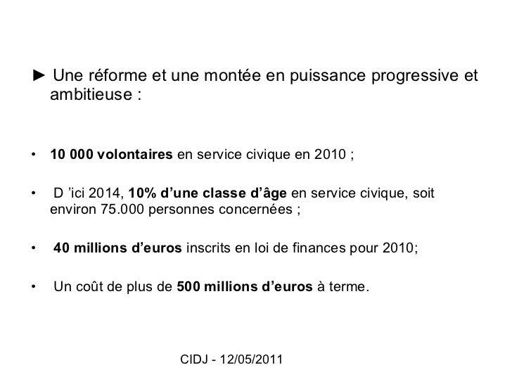 Présentation du service civique - réseau information jeunesse Val d'Oise Slide 3