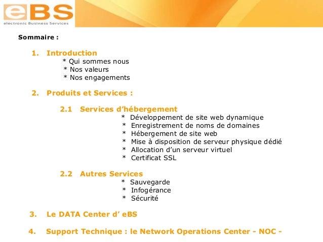Présentation e bs hosting Slide 2