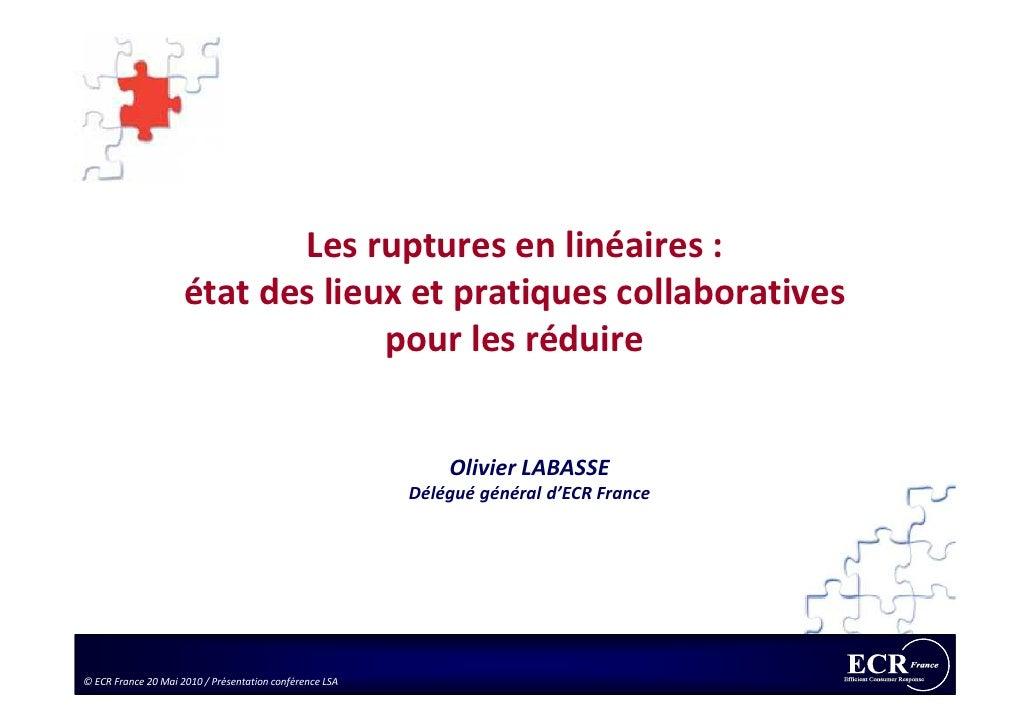 Les ruptures en linéaires :                      état des lieux et pratiques collaboratives                               ...
