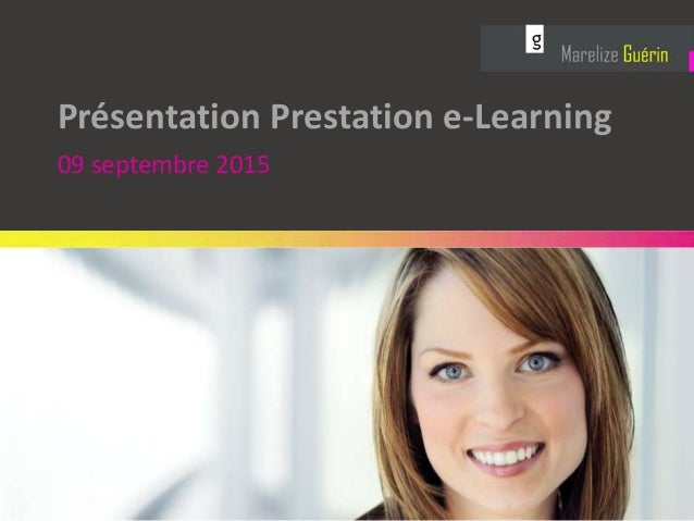 Présentation Prestation e-Learning 09 septembre 2015