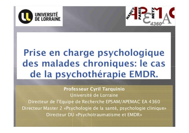Professeur Cyril Tarquinio Université de Lorraine Directeur de l'Equipe de Recherche EPSAM/APEMAC EA 4360 Directeur Master...
