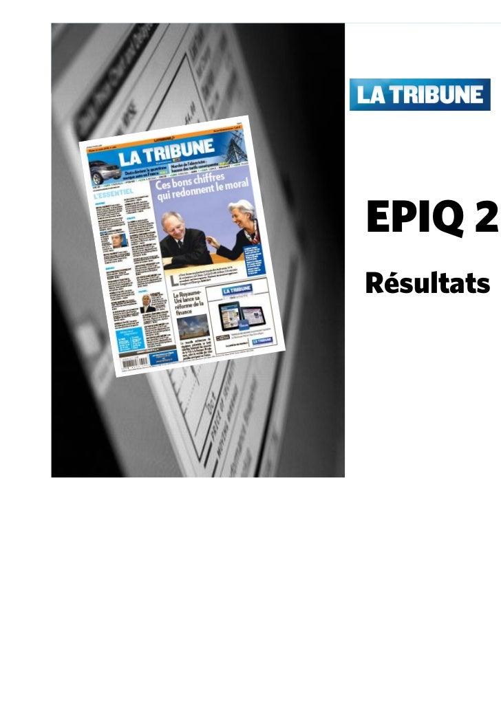 EPIQ 2010Résultats