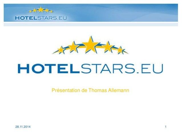 Présentation Equip'Hotel HotelStars 16/11/2014