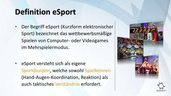 Definition Esport