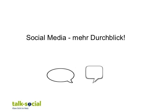 Social Media - mehr Durchblick!