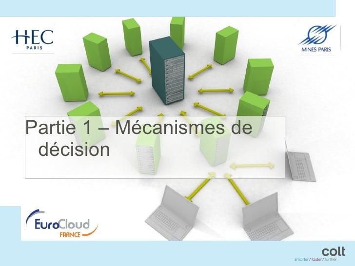 <ul><li>Partie 1 – Mécanismes de décision </li></ul>