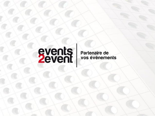 PRESENTATIONFort d'une expérience de 10 ans dans les services technique et logistiquede salons, congrès, séminaires, event...